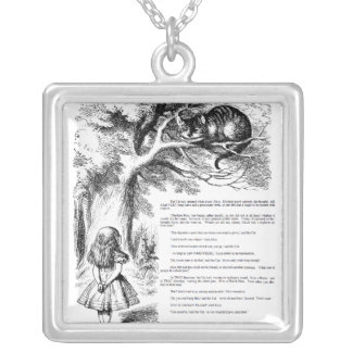 """""""alice in wonderland"""" silver plated necklace"""
