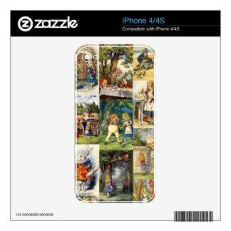 alice in wonderland iPhone 4 decals