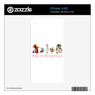 Alice in Wonderland Skins For The iPhone 4S