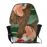Alice in Wonderland Sleeping Messenger Bags