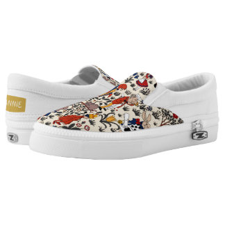 Alice in Wonderland Slip-On Sneakers