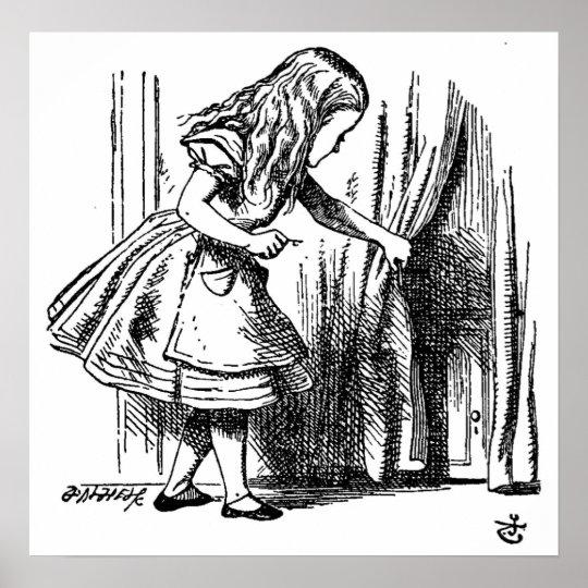 Alice in Wonderland Small Door to Wonderland Poster  sc 1 st  Zazzle & Alice in Wonderland Small Door to Wonderland Poster