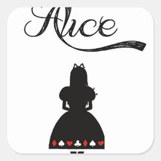 Alice In Wonderland Square Sticker