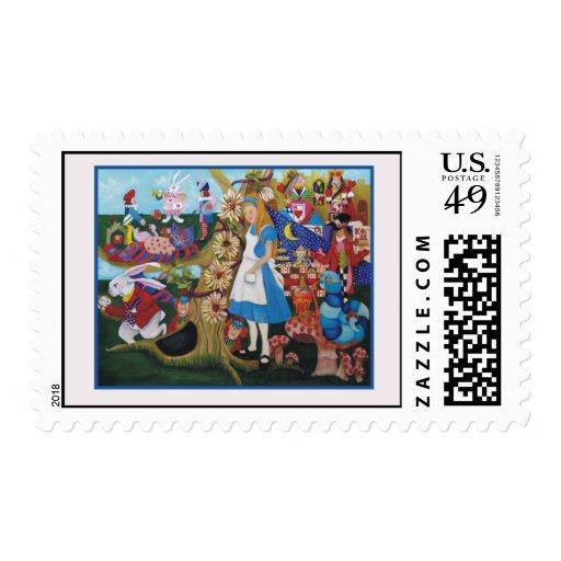 Alice in Wonderland Stamps