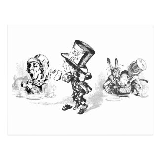 Alice in Wonderland Stickers and Postcards Postcard