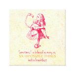 Alice in Wonderland Stretched Canvas Prints