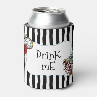 Alice in Wonderland Striped Drink Me Can Cooler