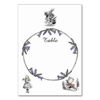 Alice in Wonderland Table Card