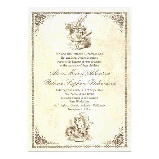 wedding invitecheck price alice - Alice In Wonderland Wedding Invitations