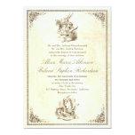Alice in wonderland tale wedding invitations