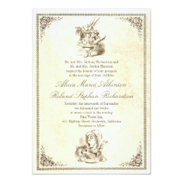 Alice In Wonderland Tale Wedding Invitations ...