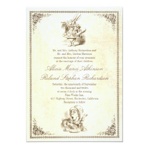 Alice In Wonderland Wedding Invitations Announcements Zazzle