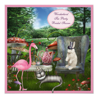 Alice in Wonderland Tea Party Bridal Shower Card