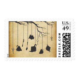 Alice in Wonderland Tea Party Postage Stamp