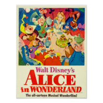 Alice In Wonderland Tea Party Poster