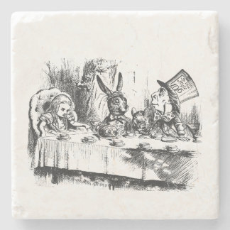 Alice in Wonderland Tea Party Stone Coaster