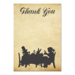 Alice in Wonderland Tea Party Thank You Card Personalized Invites