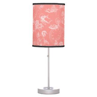 Alice in Wonderland Tea Time Coral Lamp