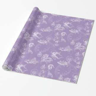 Alice in Wonderland Tea Time Lavender Gift Wrap