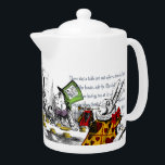 "Alice in Wonderland Teapot<br><div class=""desc"">A collection of refurbished vintage illustrations and quotes from the original Alice in Wonderland book.</div>"