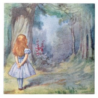 Alice in Wonderland Tenniel Art Tile or Trivet