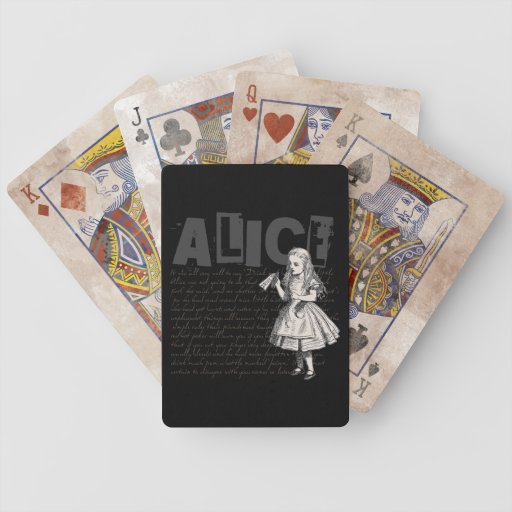 Alice In Wonderland Text & Alice Image Deck Of Cards