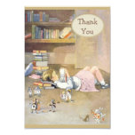 Alice in Wonderland Thank You Baby Shower 3.5x5 Paper Invitation Card