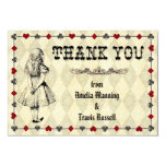 Alice in Wonderland Thank You Card - Wedding Personalized Invite