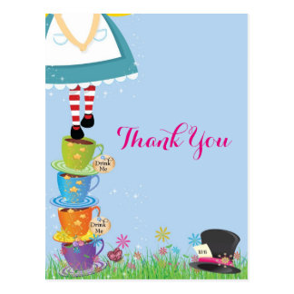 Alice in Wonderland Thank You Cards