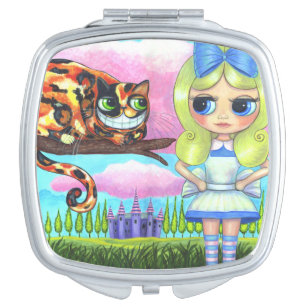 Alice in Wonderland & the Cheshire Cat Big Eyes Mirror For Makeup