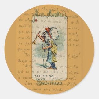 Alice in Wonderland: The Cook Classic Round Sticker