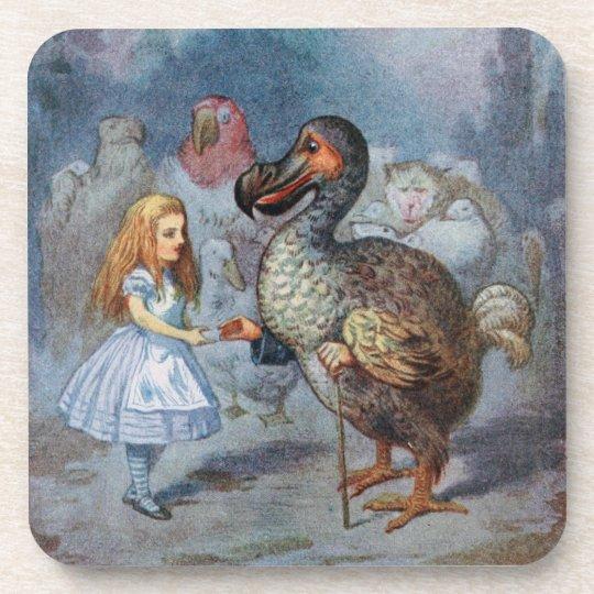 Alice in Wonderland The Dodo Cork Coaster Set