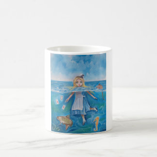 Alice in Wonderland the pool of tears by G Bruce 11 Oz Magic Heat Color-Changing Coffee Mug