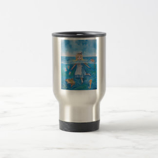 Alice in Wonderland the pool of tears by G Bruce 15 Oz Stainless Steel Travel Mug