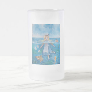 Alice in Wonderland the pool of tears by G Bruce 16 Oz Frosted Glass Beer Mug