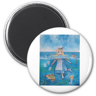 Alice in Wonderland the pool of tears by G Bruce 2 Inch Round Magnet