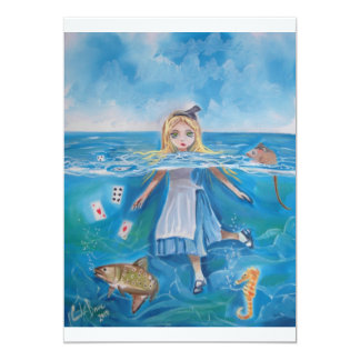 Alice in Wonderland the pool of tears by G Bruce 5x7 Paper Invitation Card