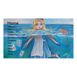Alice in Wonderland the pool of tears by G Bruce Double-Sided Standard Business Cards (Pack Of 100)