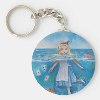 Alice in Wonderland the pool of tears by G Bruce Keychain