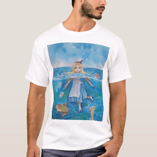 Alice in Wonderland the pool of tears by G Bruce T-Shirt