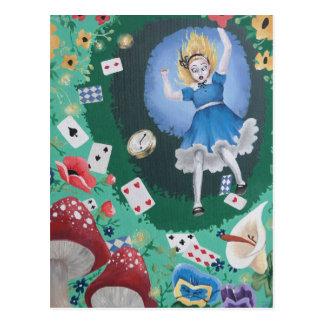Alice in Wonderland -- The Rabbit Hole Postcard