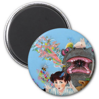 Alice in Wonderland the Rabbit Returns Many Voices 2 Inch Round Magnet