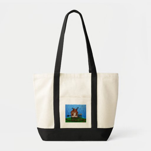 Alice in Wonderland - The Rabbit's House Canvas Bags
