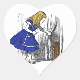 Alice in Wonderland - The Small Door Heart Sticker