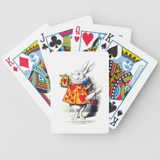 Alice in Wonderland The White Rabbit by Tenniel Bicycle Playing Cards