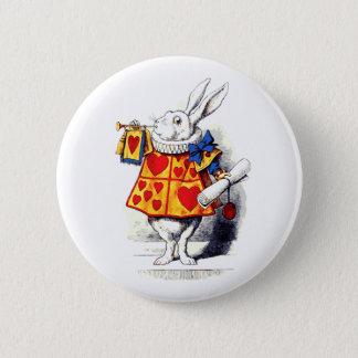 Alice in Wonderland The White Rabbit by Tenniel Button