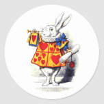 Alice in Wonderland The White Rabbit by Tenniel Classic Round Sticker