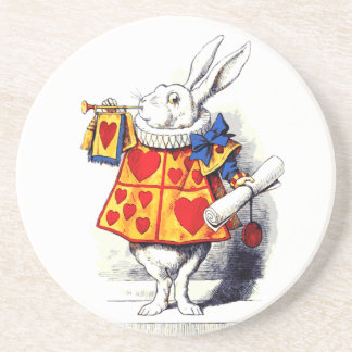 Alice in Wonderland The White Rabbit by Tenniel Coasters
