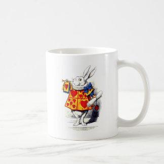 Alice in Wonderland The White Rabbit by Tenniel Coffee Mug