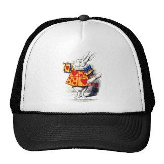 Alice in Wonderland The White Rabbit by Tenniel Trucker Hat